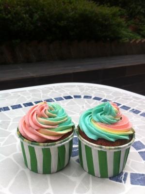 Double Rainbow Cupcake 彩虹杯子蛋糕