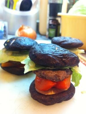 mushroom mini burger 蘑菇迷你漢堡