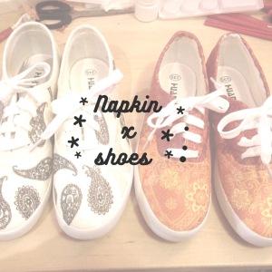DIY 手工 napkin shoes 餐巾 鞋