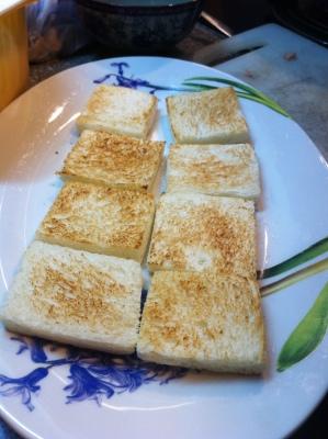 餐蛋單片三文治 ham and scrambled egg sandwich