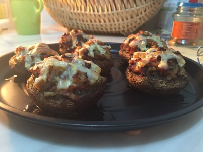 釀大蘑菇 party food Stuffed Mushrooms 蘑菇 food 小食 香港