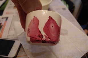 diy art nail polish porcelain cup design easy blog lifestyle 香港 杯 陶瓷 陶瓷杯 花紋 指甲油